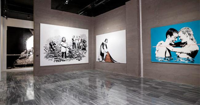 'The Art of Banksy'ye yoğun ilgi