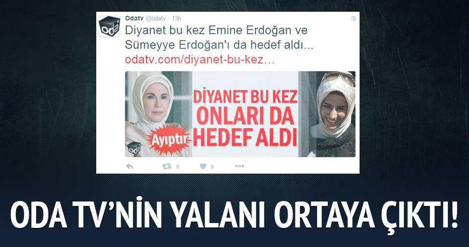 ODA TV'nin Emine Erdoğan ve Sümeyye Erdoğan yalanı ortaya çıktı!