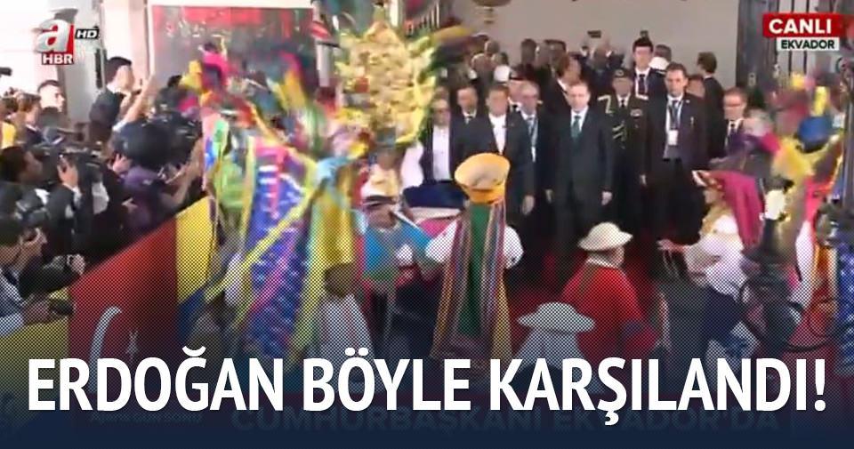 Cumhurbaşkanı Erdoğan Ekvador'da