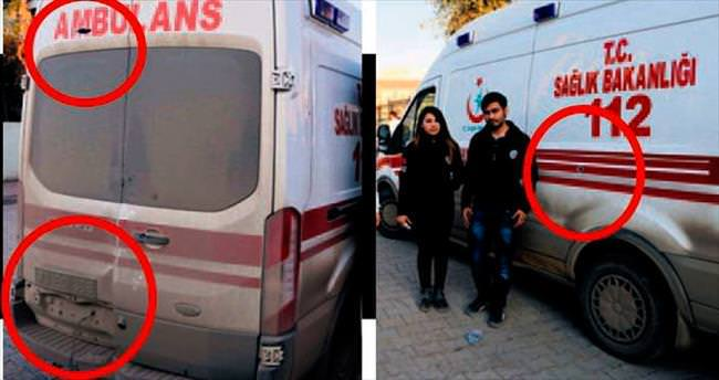Teröristler, o binadan ambulansa saldırdı