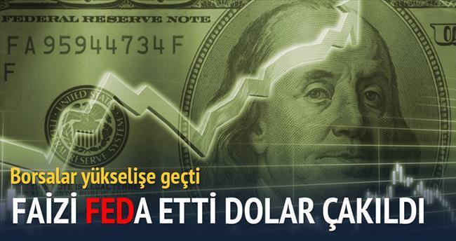 Faizi FEDa etti dolar çakıldı