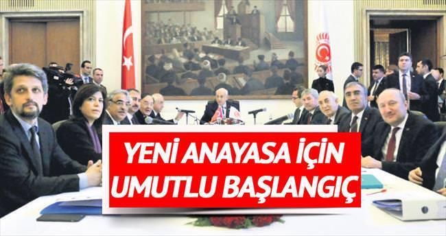 Yeni anayasa için umutlu başlangıç