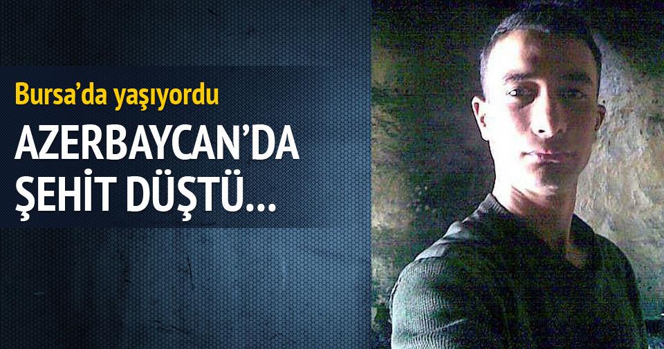 Azerbaycan'ın şehit ateşi Bursa'ya düştü