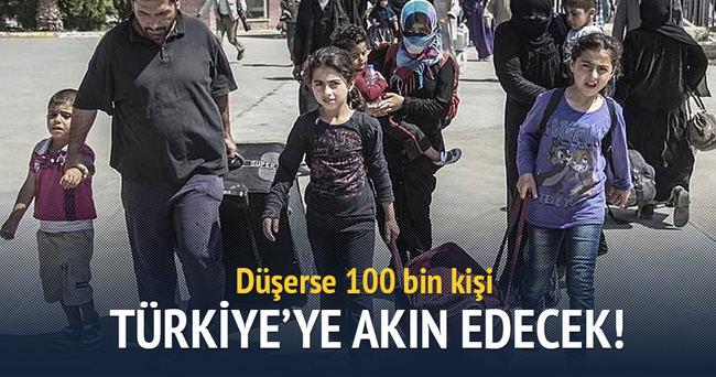 Azez düşerse 100 bin kişi sınıra dayanacak