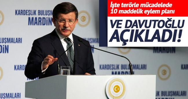 Davutoğlu terörle mücadele eylem planını açıkladı