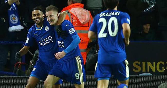 Leicester City'nin rüyası Vardy ile sürüyor