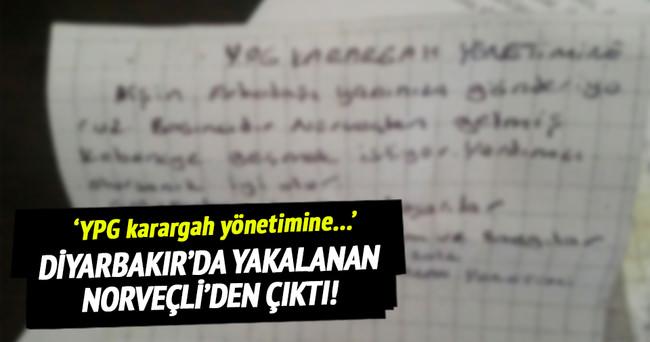 Diyarbakır'da yakalanan Norveçli'den bu not çıktı!