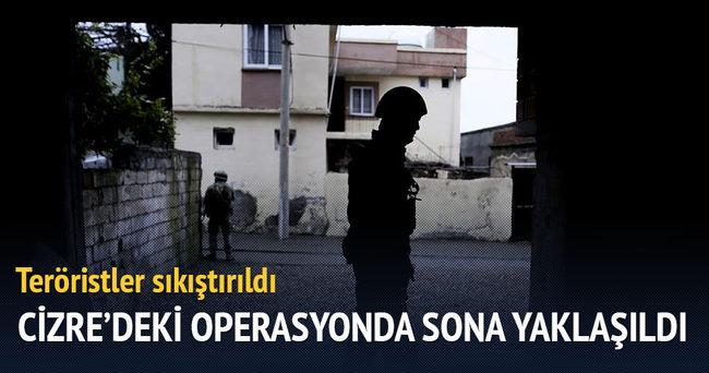 Cizre'deki terör operasyonunda sona yaklaşıldı