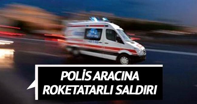 Polis aracına atılan roketatar mermisi eve isabet etti