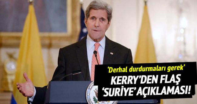 Kerry'den flaş 'Suriye' açıklaması!
