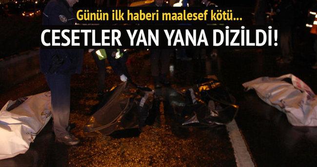 Başkentte trafik kazası: 5 ölü, 5 yaralı