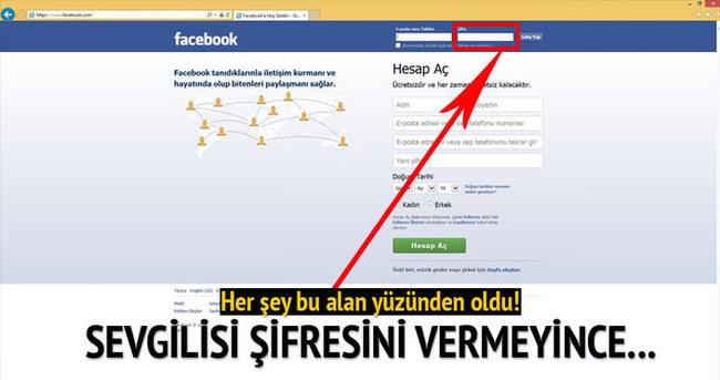 Facebook şifresi için öldürmüş