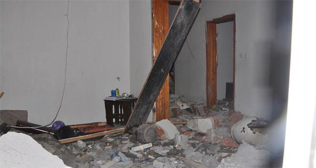 Isıtıcı kazanı patladı, ev savaş alanına döndü