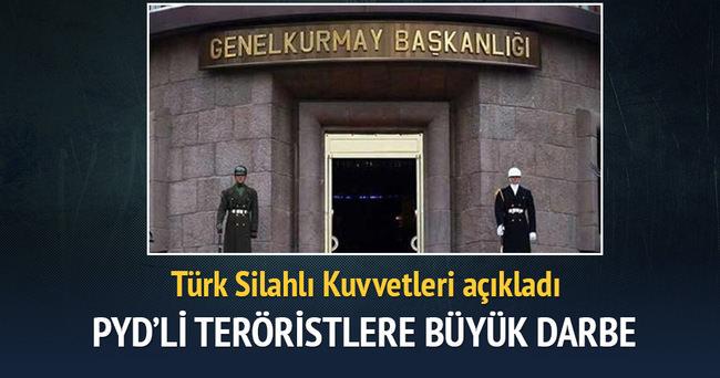 PYD'li teröristlere darbe