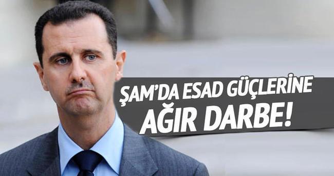 Şam'da Esed güçlerine ağır darbe!