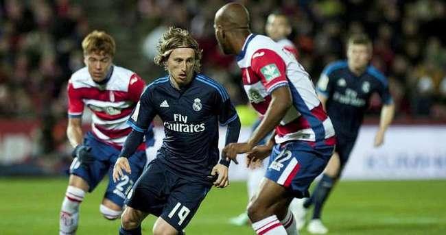 Real Madrid'i Modric kurtardı
