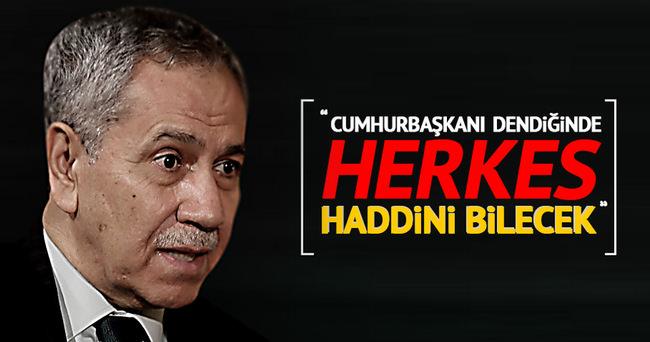 Nihat Zeybekçi: Cumhurbaşkanı dendiğinde herkes haddini bilecek!