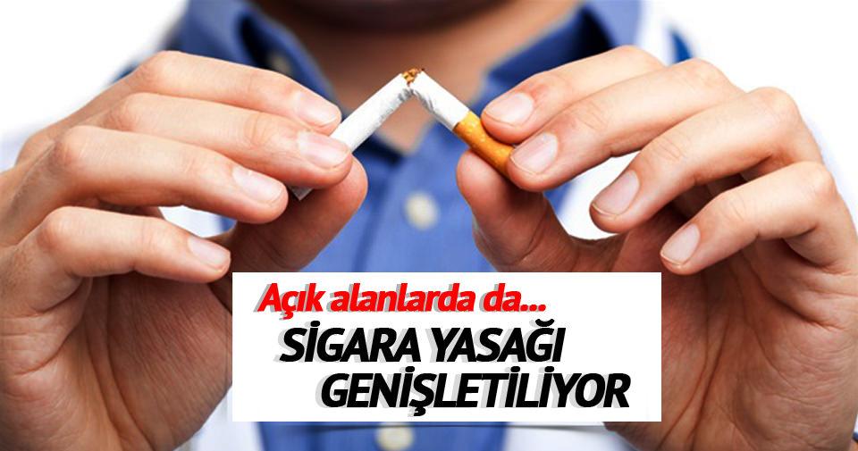 Açık alanlarda da sigara yasağı başlıyor