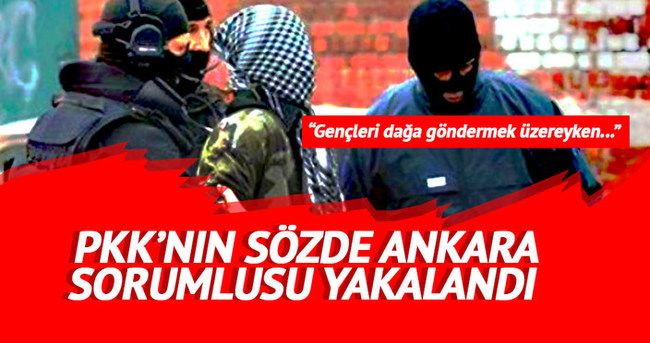 PKK'nın sözde Ankara sorumlusu yakalandı