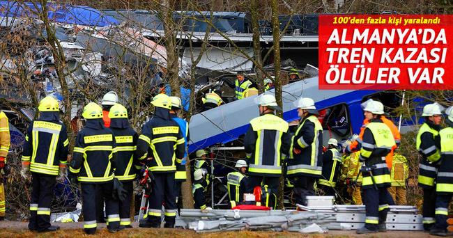 Almanya'da tren kazası: Çok sayıda ölü var