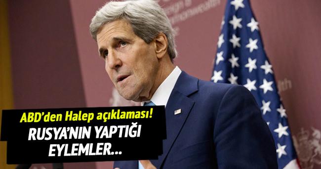 ABD'den Halep açıklaması