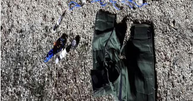 Sınırda canlı bomba yeleği ele geçirildi