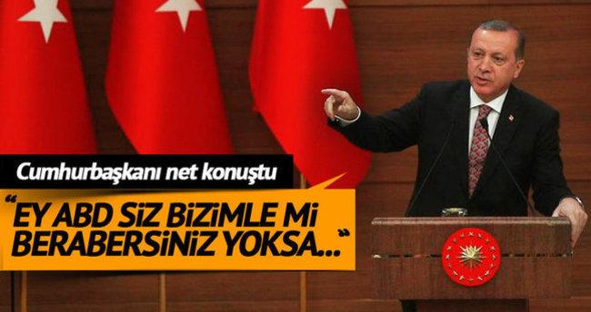 Cumhurbaşkanı Erdoğan'dan ABD'ye sert PYD cevabı