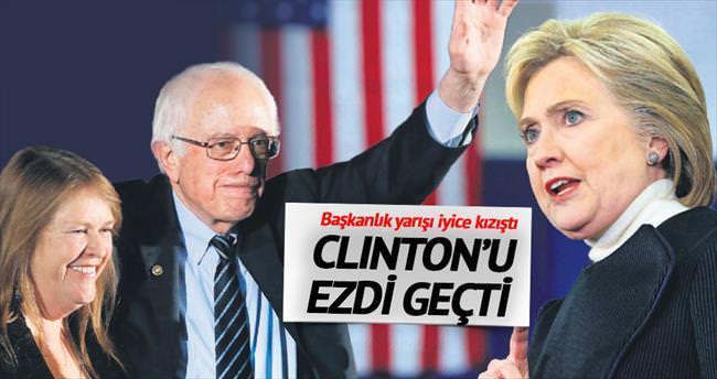 Sosyalist aday Clinton'ı ezdi