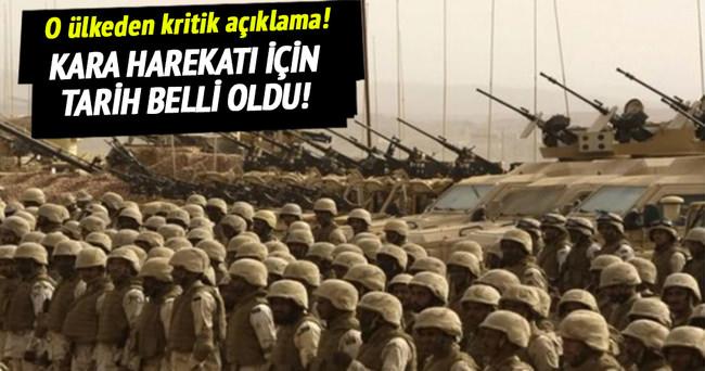 DAEŞ'e karşı kara harekatı için tarih açıklandı!