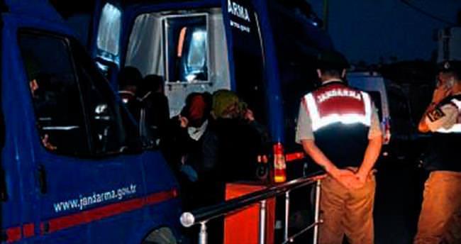 İzmir'in 4 ilçesinde 101 kaçak yakalandı
