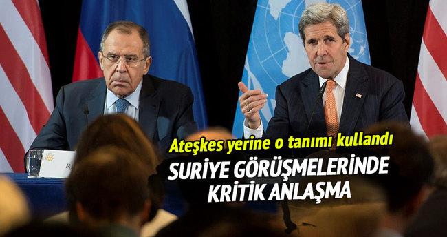 Suriye görüşmelerinde kritik anlaşma