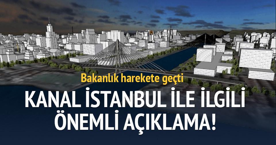 Kanal İstanbul ile ilgili önemli açıklama