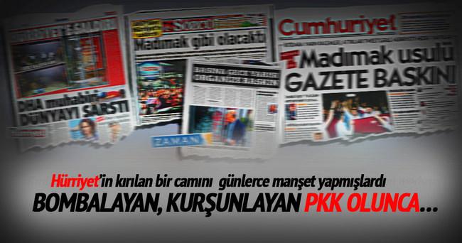 Özgür basın PKK saldırısını görmezden geldi!
