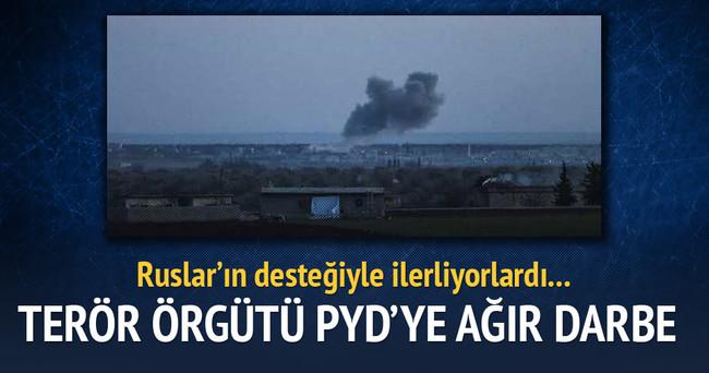 ÖSO Azez'de PYD'yi püskürtüyor