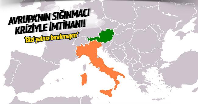 İtalya ve Avusturya'dan Avrupa'ya çağrı: Bizi yalnız bırakmayın