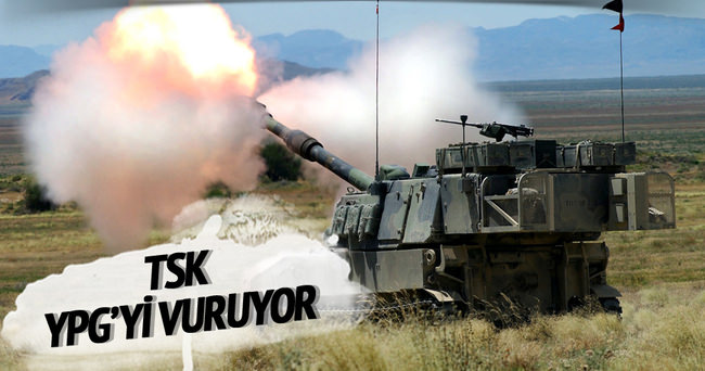 TSK, YPG mevzilerini vuruyor