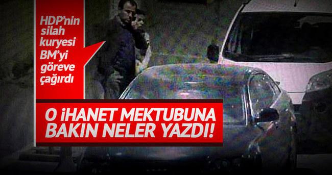 HDP'nin silah kuryesi BM'yi göreve çağırdı