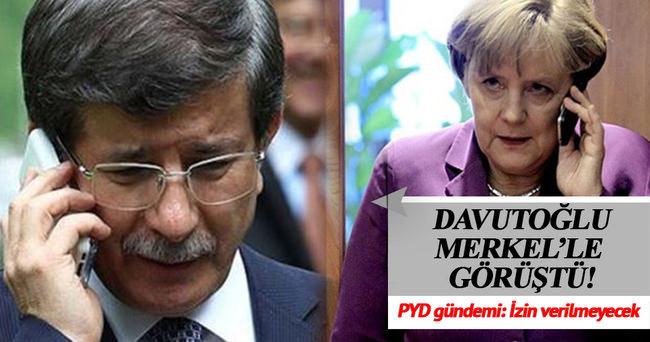Başbakan Davutoğlu, Merkel'le görüştü