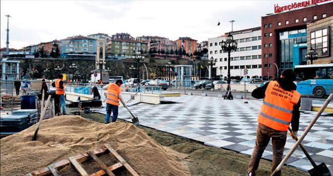 'Keçiören Meydanı' metrodan önce yaya trafiğine açılacak