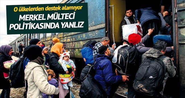 Merkel mülteci politikasında yalnız