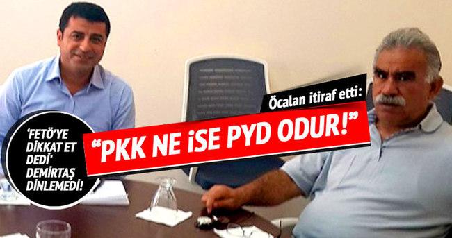 """Öcalan itiraf etti: """"PKK ne ise PYD odur!"""""""