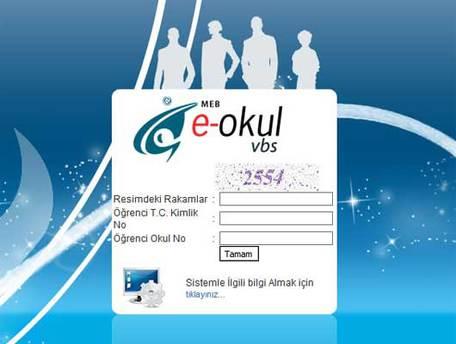 E-Okul VBS veli bilgilendirme sistemine giriş