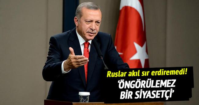 Erdoğan öngörülemez bir siyasetçi