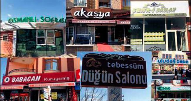 Pursaklar'da tabelalara 'Türkçe' ayarı
