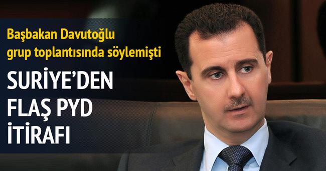 Suriye'den PYD itirafı