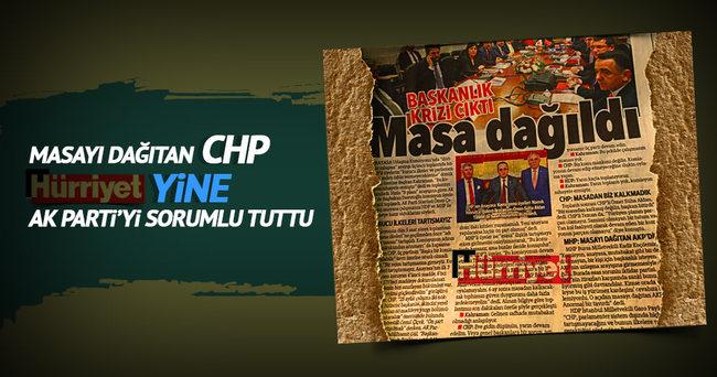 Anayasa komisyonunu dağıtan CHP Hürriyet yine AK Parti'yi sorumlu tuttu