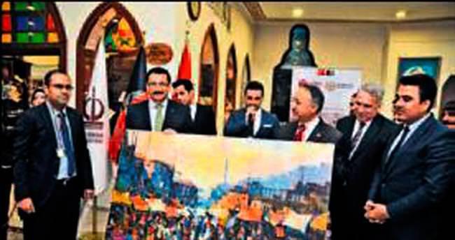 Afgan ressam Karim'in sergisi Keçiören'de