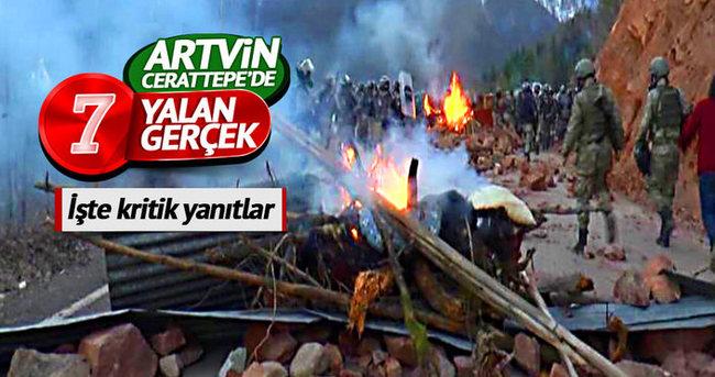 Artvin Cerattepe'de kritik 7 yanıt