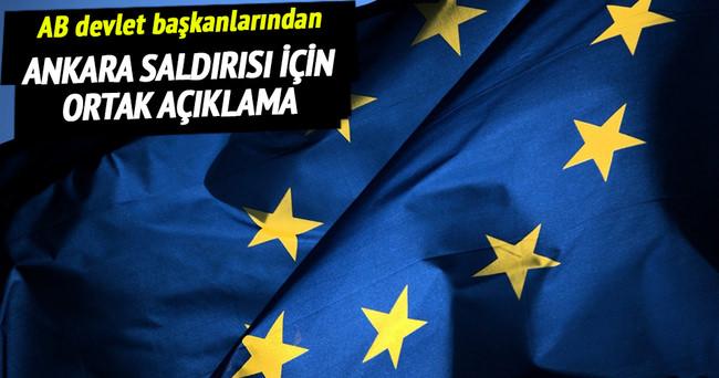 AB'den Ankara saldırısı için kınama