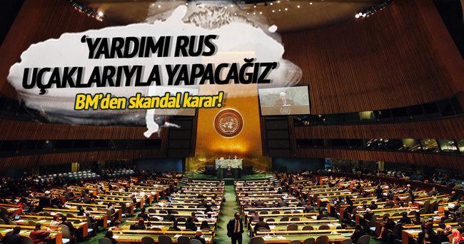 BM, Suriye'de havadan yardımı Rus uçaklarıyla yapacak